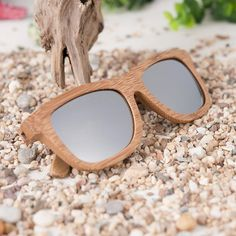 1036f05b09e Zebra Wood Bamboo Sunglasses With Silver Polarized Lens - Wooden Bamboo Sunglasses  Eco Friendly - That s