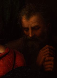 Saint Joseph ~ detail, by Raphael (1483 - 1520) feast day 19 of March