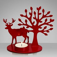 Buy House by John Lewis Reindeer Tealight Holder from our Candle Holders range at John Lewis & Partners. Christmas Candle Lights, Christmas Decorations, Christmas Ideas, Red Paint, Metallic Paint, Buy House, Woodland Christmas, Christmas Crackers, Scroll Saw Patterns
