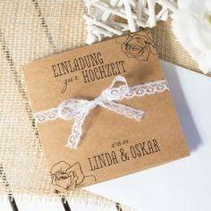 Einladungskarte Hochzeit Vintage Rosen