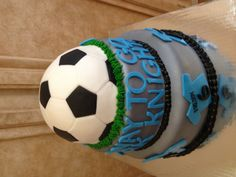 Cake for Andrew's end of season soccer party www.facebook.com/cakeitorleaveitcakesbymarianne