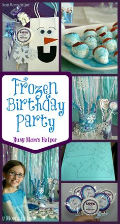 Frozen Birthday Party / by Busy Mom's Helper #Frozen #Disney #Olaf #Elsa - with FREE printable invitations!