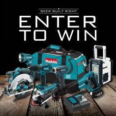 Enter here for your chance to win a Makita 18V LXT® Lithium-Ion 7-Pc. Combo Kit Model XT702