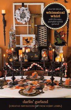 Give fall décor a whimsical whirl with this easy, pumpkin-spired garland!