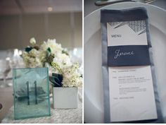 CeciStyle V109: Ceci Johnson of Ceci New York - SILVER LINING: Our Muse - Modern Chicago Wedding - Be inspired by Katherine & Robert's modern wedding in Chicago - wedding, menus