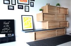 wall shelving and design