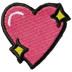 Stoney Clover Lane Sparkle Heart Sticker Patch (72 UYU) ❤ liked on Polyvore featuring accessories, patches, fillers, pink and stoney clover lane