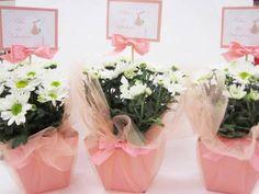 flores para enfeitar mesa de chá de fraldas