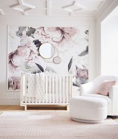 Pottery Barn Kids New Modern Baby Collection 2018 - - Think cool nursery furniture doesn't exist? Think again. Pottery Barn Kids just launched the chicest baby decor collection—and we low key want everything from it, too. Pottery Barn Kids, Pottery Barn Nursery, Pottery Barn Bedrooms, Baby Bedroom, Baby Room Decor, Girls Bedroom, Room Baby, Baby Girl Nursery Decor, Baby Rooms