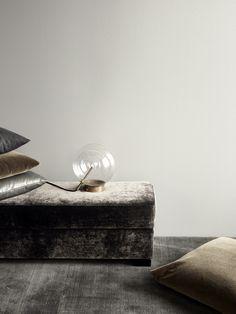 TDC: Rue Verte | Velvet Cushions & Bolle Lampada