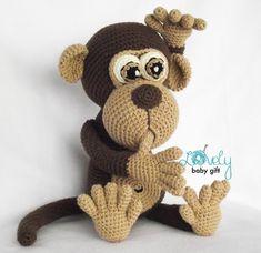 We continue to share beautiful amigurumi crochet patterns. The most beautiful amigurumi knitting toy models have great amigurumi monkey patterns in order. Crochet Monkey Pattern, Crochet Patterns Amigurumi, Crochet Baby, Free Crochet, Cute Monkey, Crochet Basics, Stuffed Animal Patterns, Crochet Animals, Crochet Projects