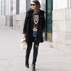 #stealthelook #look #looks #streetstyle #streetchic #moda #fashion #style #estilo #inspiration #inspired #sobreposicao #casaco #ankleboot #tricot
