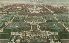 Vue générale de la ville et du château de Versailles du côté des jardins (1793)