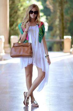a white summer dress