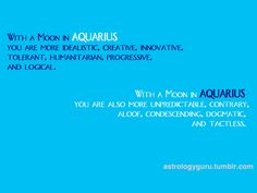 74 Best Aquarius Moon images in 2017 | Aquarius, Age of aquarius