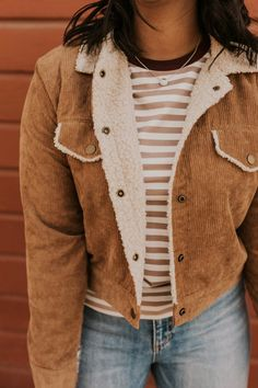 Corduroy Button Coat - Fall Jackets For Women Cute Fall Outfits, Winter Fashion Outfits, Autumn Fashion, Girl Outfits, Fashion Spring, Classy Outfits, Trendy Outfits, Autumn Outfits, School Outfits