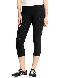 Best leggings for the gym! Blows the expensive brands out of the water! womens Old Navy Active Printed-Compression Capris Sporty Outfits, Fashion Outfits, Sporty Clothes, Workout Wear, Workout Pants, Tall Clothing, Fitness Fashion, Fitness Wear, Best Leggings