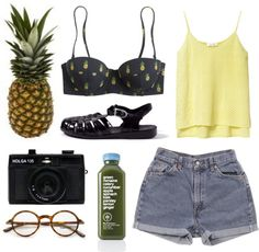 """a pineapple a day"" by sulk-y on Polyvore"