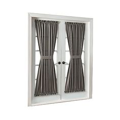 """No.  Montego Casual Grommet Door Panel \""""  \"""" Nickel ($19) ❤ liked on Polyvore featuring home, home decor, window treatments, curtains, nickel, grommet window treatments, target curtains, grommet draperies, grommet panel and grommet valance"""