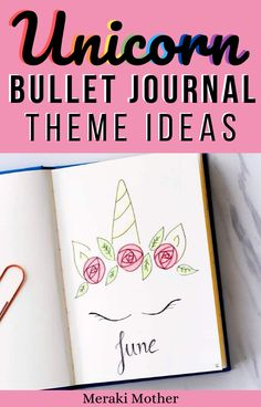 June is looking pretty magical with the Unicorn Bullet Journal Theme! Once upon a time I used to make unicorn headbands for a living.
