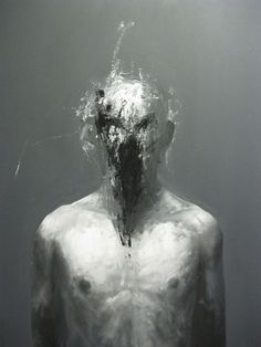 painting by benjamin carbonne Arte Horror, Horror Art, Painting Inspiration, Art Inspo, Art Macabre, Art Sinistre, Arte Obscura, Creepy Art, Surreal Art