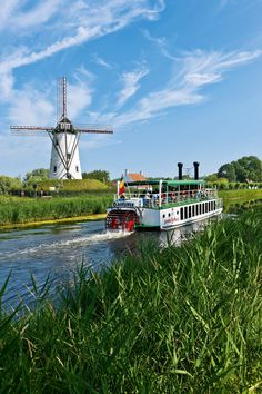 Windmill on the Damme Canal, Flanders, Bruges, Belgium