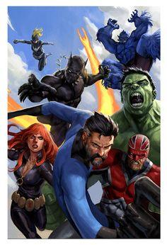 Avengers #43 by Stefano Casalli