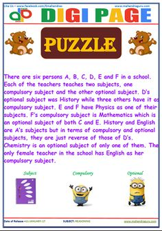 Digi Page(DP) 11-January-2017 Reasoning Puzzle