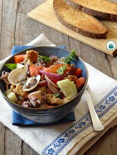 #ricetta PANZANELLA DI PESCE, fresca, gustosa e facile da realizzare. #Gialloblogs #cosedafoodblogger
