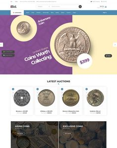 iBid - Multi-Vendor WordPress Auction Theme by ModelTheme Coin Auctions, Coin Art, Coin Collecting, Driving Test, Coins, Wordpress, Ecommerce, Electronics, Shop