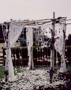Bohemian wedding bower: YES! I'd love to get married under something like this...