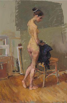 Valeriy Gridnev - Nude - Pastel 36'' x 24''