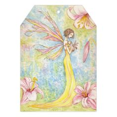Customizable Mother & Baby Fairy Painting Invite