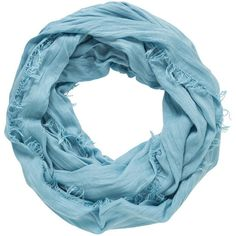 maurices Infinity Scarf With Raw Edges ($16) ❤ liked on Polyvore featuring accessories, scarves, beacon blue, round scarves, infinity scarf shawl, circle scarf, infinity shawl and infinity scarves
