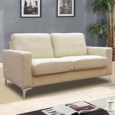 Cream leather sofas – the best choice for every space in 2018 Cream Leather Sofa, Leather Lounge, Leather Sofas, Cream Bedding, Lounge Suites, Comfy Sofa, Living Spaces, Living Room, Sofa Bed