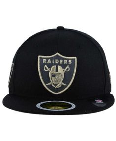 New Era Oakland Raiders State Flective Metallic 59FIFTY Fitted Cap - Black  6 7 8 2a388fc8cd91