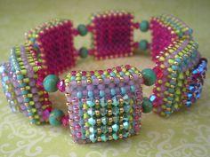 Disco Squares Bracelet | Flickr - Photo Sharing!