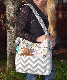 Look at this #zulilyfind! Creamy Owl Diaper Bag by Brownie Gifts #zulilyfinds