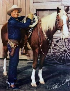 Gene Autry (The Singing Cowboy) and his horse, Champion, was in movies and had his own TV show when I was a child. Autry also wrote numerous children's songs that are still popular today. Cowboy Girl, Cowboy Up, Western Cowboy, All The Pretty Horses, Beautiful Horses, Horse Movies, Look At My, The Lone Ranger, Western Movies