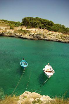 Porto Badisco, c'est une plage minuscule située entre OTRANTO et LEUCA.
