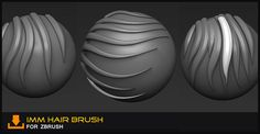 Hair Brush For Zbrush By Simon Chapman Zbrush Tutorial, 3d Tutorial, 3d Character, Character Design, Zbrush Hair, Hair Photography, Modelos 3d, Modeling Tips, Computer Animation