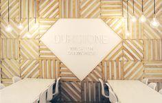 Durstone Stand for Cersaie 2013 Exhibition. Design by VXLAB Branding & Design Direction Big Design, Creative Portfolio, Wooden Slats, Retail Interior, Environmental Graphics, Stand Design, Textured Walls, Architecture Details, Lorem Ipsum
