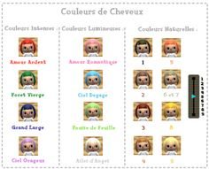 acnl hair guide Google Search animal crossing