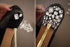 Miu Miu jeweled shoes | DIY