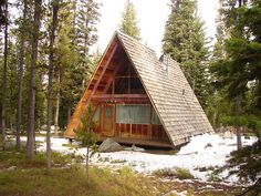 This is a pretty much perfect A-Frame A Northern Cabin - sketchymetal: A-Frame cabin in the...