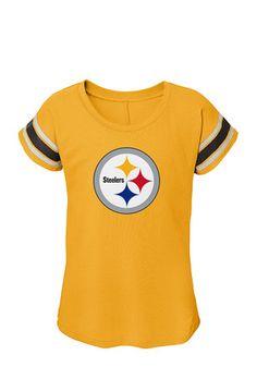 0c81b62bf Pitt Steelers Girls Gold Dolman T-Shirt Pitt Steelers