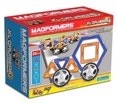 Magformers XL Cruisers Car Set. Create zippy, colorful cars that are durable and fun to play with. This is a perfect starter car building set. More at http://suliaszone.com/magformers-xl-cruisers-car-set-colors-may-vary/