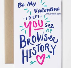 Nerdy Valentines, Funny Valentines Day Quotes, Valentine Day Cards, Happy Valentines Day, Valentine's Day Quotes, Papers Co, Kraft Envelopes, Cookies Et Biscuits, Screen Printing