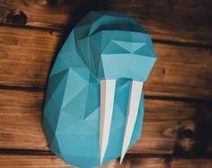 Papercraft deer head 1  printable DIY template