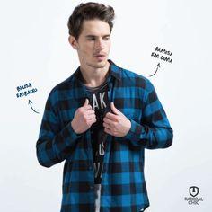 Blusa em baixo e camisa em cima é uma combinação de sucesso. Práticas e confortáveis são excelentes para períodos de frio. Com uma camisa básica você valoriza o visual sem perder o estilo ;) #TendênciaDeModa #ModaMasculina #RadicalChic #EllusForHim